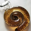 Lampwork Glass Swirl Pendant Necklace 46mm*41mm  T1347