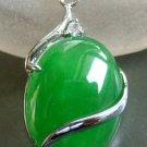 Acrylic Diamond Malay Jade Alloy Metal Pendant 23mm*10mm  T1511