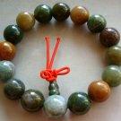 12mm Indian Agate Beads Tibet Buddhist Prayer Mala Bracelet  T1515