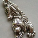 Alloy Metal Chinese Zodiac Tiger Amulet Pendant 50mm*25mm  T1526