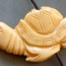Ox Bone Carved Longevity Turtle Pendant Bead 40mm*22mm  T1545