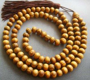 7mm 108 Wood Beads Tibet Buddhist Prayer Meditation Mala  T1692