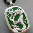 Malay Jade Alloy Metal Dragon Pendant Necklace 25mm*18mm  T1725