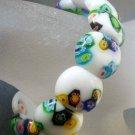 Lampwork Glass Oval Beads Bracelet  T1742