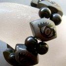 Tibetan Eye Agate Gem Beads Bracelet  T1743