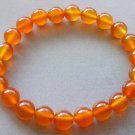8mm Orange Agate Beads Bracelet  T1754
