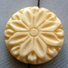 Ox Bone Carved Flower Pendant Bead 25mm*25mm  T1769