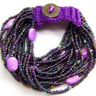 Colorful Rice Glass Beads Strands Bracelet  T1813