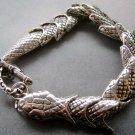 Alloy Metal Snake Boa Bangle Bracelet  T1859