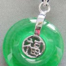 Malay Jade Alloy Metal Good Blessing FU Amulet Pendant 20mm*20mm  T1921