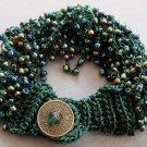 Rice Glass Beads Silk Cord Bracelet  T1940