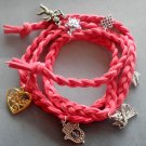 Hand Knited Vintage Style Disney Bracelet With Pendant  T1972