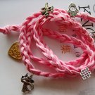 Hand Knited Vintage Style Disney Bracelet With Pendant  T1974