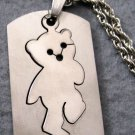 Alloy Metal Bear Pendant Necklace 43mm*24mm  T2015