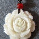 Natural Sea Shell Flower Pendant 32mm*31mm  T2093