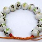 12mm Porcelain Flower Leaf Beads Bracelet  T2141
