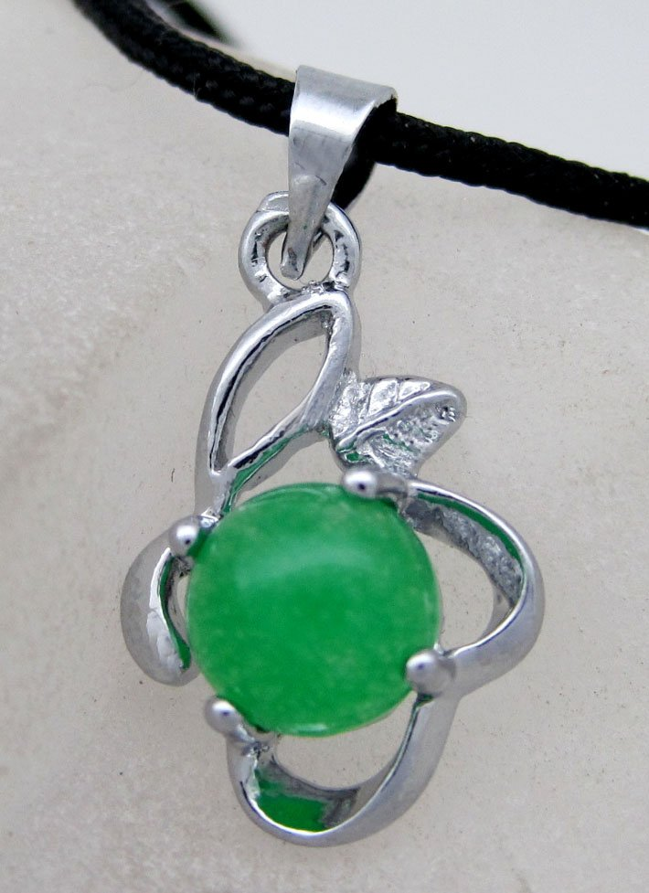 Malay Jade Alloy Metal Pendant 20mm*12mm  T2147