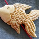 Ox Bone Carved Fish Pendant Bead 67mm*42mm  T2170
