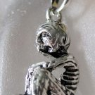 Alloy Metal Seated Skeleton Pendant 33mm*20mm  T2212