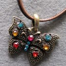Acrylic Diamond Alloy Metal Butterfly Pendant 36mm*28mm  T2215