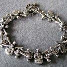 Alloy Metal Skull Skeleton Beads Bracelet  T2237