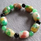 Colorful Jade Coloumn Beads Bracelet  T2252