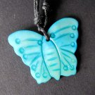 Blue Sea Shell Butterfly Pendant 33mm*25mm  T2260