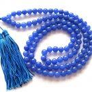 Tibet Buddhist 108 Jade Beads Prayer Mala Necklace 8mm  ZZ070