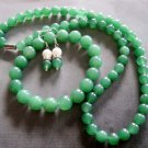 Jade Beads Necklace Bracelet Earrings  T2279