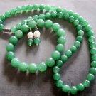 Jade Beads Necklace Bracelet Earrings  T2279