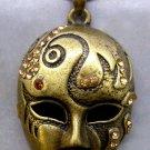 Acrylic Diamond Alloy Metal Beauty Mask Pendant 45mm*30mm  T2345