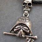 Alloy Metal Skull Sword Pendant 70mm*42mm  T2356