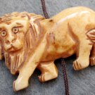 Ox Bone Carved Male-Lion Pendant Bead 42mm*28mm  T2372