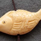 Ox Bone Carved Fish Pendant Bead 45mm*18mm  T2376