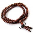 5mm 108 Rosewood Beads Tibet Buddhist Prayer Mala Necklace  ZZ157