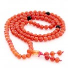 6mm 108 Red Agate Gem Beads Tibet Buddhist Prayer Mala Necklace  ZZ167