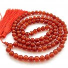 8mm 108 Red Agate Gem Beads Tibet Buddhist Prayer Mala Necklace  ZZ179