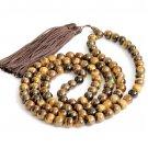 8mm 108 Genuine Tiger Eye Gem Beads Tibet Buddhist Prayer Mala Necklace  ZZ186