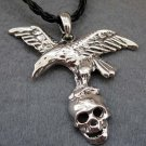 Alloy Metal Hawk Eagle Skull-Head Pendant 53mm*48mm  T2403