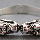 Alloy Metal Twin Dragon-Heads Bangle Cuff  T2406