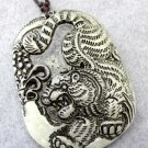 Old Jade Vivid King Of Beasts Tiger Pendant 48mm*36mm  T2413