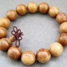 15mm Wood Beads Tibet Buddhist Prayer Mala Brcelet  T2416