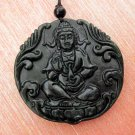 Black Green Jade Tibet Buddhist Kwan-Yin Guanyin Amulet Pendant 47mm*47mm  TH057