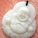White Jade Tibet Buddhist Buddha Amulet Pendant 43mm*39mm  TH217