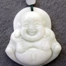 White Jade Tibet Buddhist Buddha Amulet Pendant 36mm*32mm  TH235