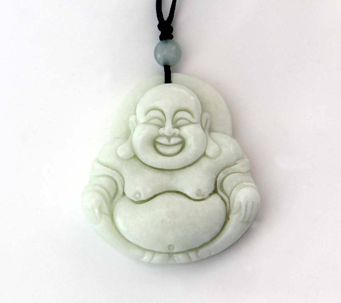 White Jade Tibet Buddhist Fortune Buddha Amulet Pendant 39mm*36mm  TH285