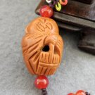 Olive-Pit Carved Tibet Buddhist Buddha Amulet Pendant 24mm*17mm  T2437