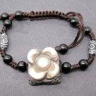Tibet Eye Agate Gem Flower Leaf Bead Beads Bracelet 21mm*20mm  T2470