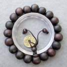 11mm Wood Beads Tibet Buddhist Prayer Mala Bracelet Wrist  T2475