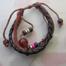 Mixed Material Beads Leather Bracelet  T2484